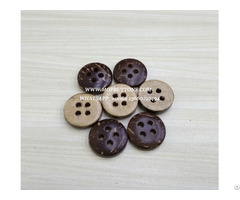 Custom Large 4 Holes Natural Polished Coconut Wood Button Made In China