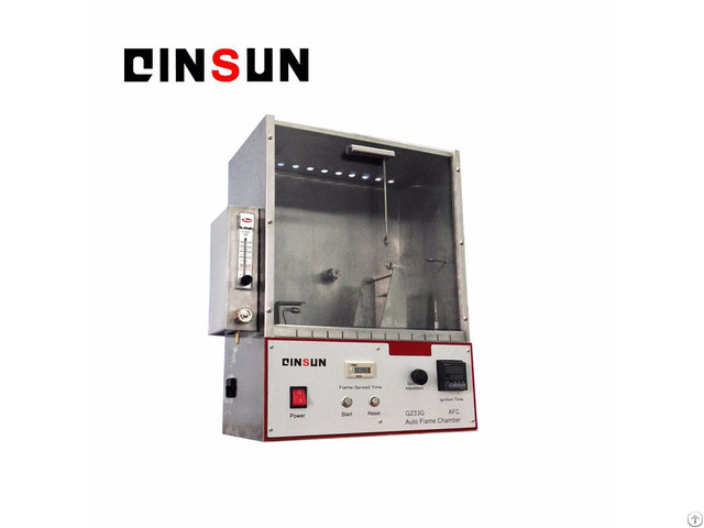 Fourty Five Degree Flammability Tester