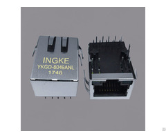 Ingke Ykgd 8049anl Cross A60 113 331p432 Single Port Through Hole Rj45 Modular Jack