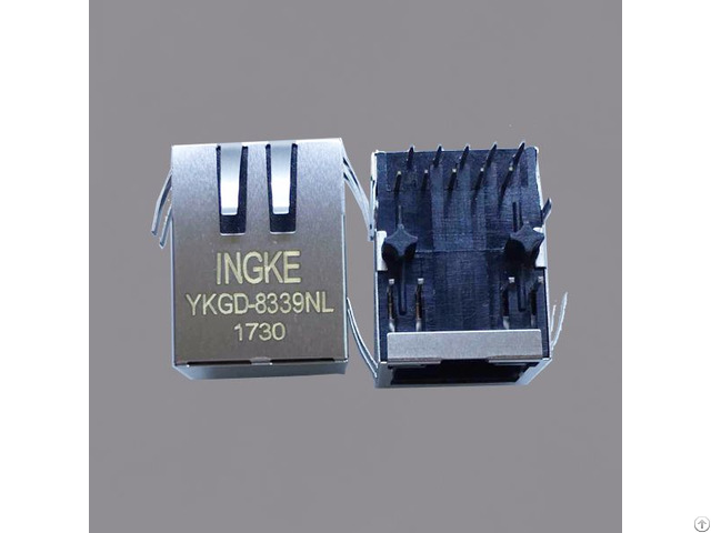 Ykgd 8339nl 1840475 1x1 Through Hole Magnetic Rj45 Jacks