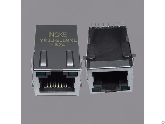 J3011g21dnl Ykju 2009nl Single Port Smt Industrial Rj45 Connector Jacks