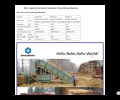 High Capacity Hydraulic Automatic Straw Press Machine