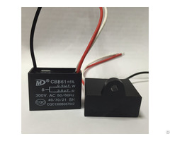 Cbb61 Motor Capacitor With Ul Vde Cqc Tuv Certificate
