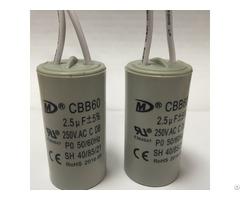 Cbb60 Motor Run Capacitor With Ce Ul