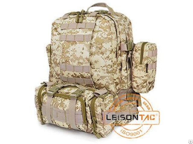High Density Nylon Tactical Backpack With Molle Attachment