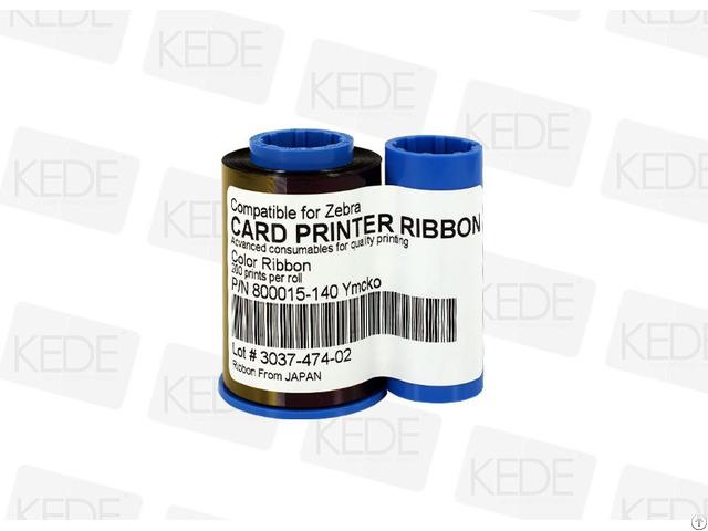 For Zebra 800015 140 Ymcko Color Ribbon 200 Prints