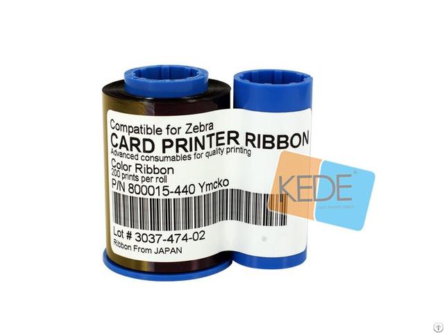 For Zebra 800015 440 Ymcko Color Ribbon 200 Prints