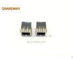 Hfj12 Rj45 Modular Ethernet Port Jack 1x2 With Magnetics Network Interface Module