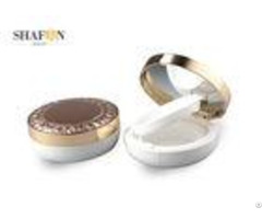 Gold Flower Printed Empty Air Cushion Case 33mm Height Abs Material Oem