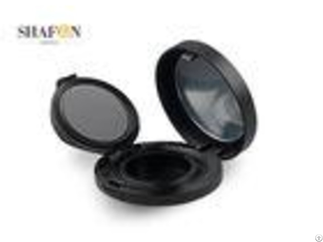 Black Women Empty Air Cushion Compact Case For Personal Makeup Simple Design