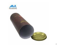 High End Customized Round Wine Tube Box