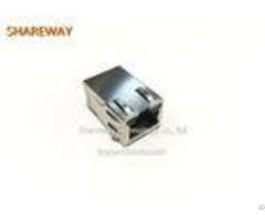Single Row 6pins Poe Rj45 Connector J0g 0059nl Right Angle With Led Finger