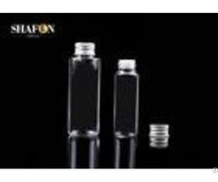 Personal Skin Care Petg Plastic Bottles With Aluminum Cap 100ml Customized Surface Finish