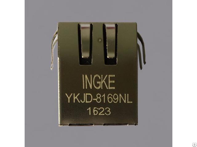 Ingke Ykjd 8169nl 100% Cross Through Hole Si 40138 Magnetic Rj45 Jacks