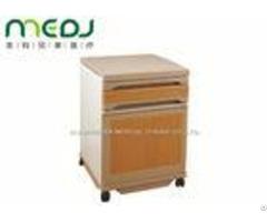 Commercial Medical Bedside Cabinet 2 Drawers Abs Board Steel Frame