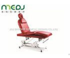 Electric Hospital Examination Table Red Luxurious Beauty Salon Bed
