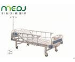 Single Crank Manual Hospital Bed Mjsd05 02 Abs Head Foot Board With Side Railing