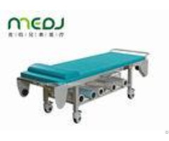 Hospital Surgery Medical Examination Table Steel Frame With Storage Net