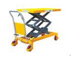 Hand Operated Movable Lift Table Double Scissor Heavy Duty Steel Construction