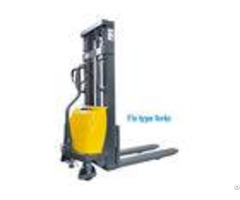 Lifting Height 2500mm Electric Pallet Stacker With Fix Type Forks Easy Operating