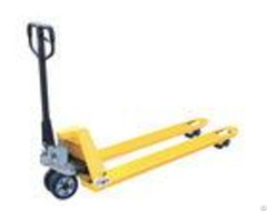 Heavy Duty Hand Pallet Truck With Casting Pump Yellow Color 200mm Lifting Height
