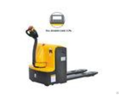 2000kg Capacity Motorised Pallet Truck Reliable Design With Electronic Scale