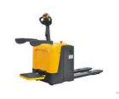 Simple 2 Ton Electric Pallet Truck Tiller Head Shockproof For Warehouse