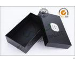 Black Luxurious Leather Belt Corrugated Packaging Boxes Custom Logo Printed