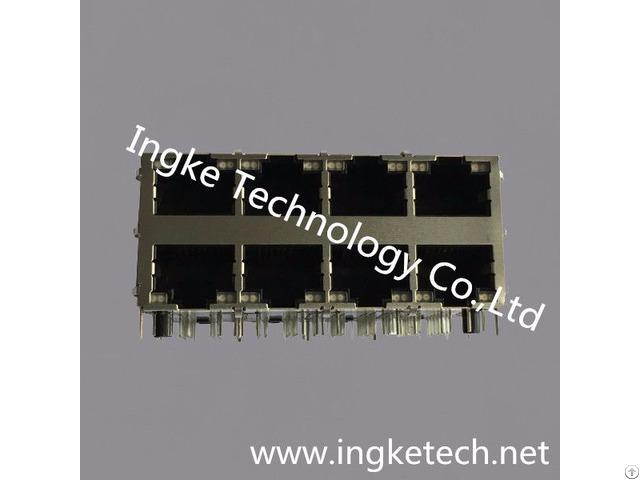 Ingke Ykg 832409nl 100% Cross Xmh 9760 Jl7d130 886 2x4 Ports Rj45 Jacks With Magnetics