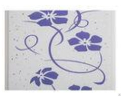 Purple Flower Decorative Pvc Panels Transfer Printing For Shopping Mall