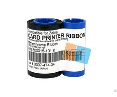 For Zebra 800015 101 K Monochrome Compatible Ribbon 1000 Prints Roll