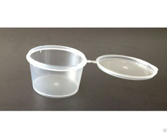 Pp Sauce Container With Hinged Lid 3oz