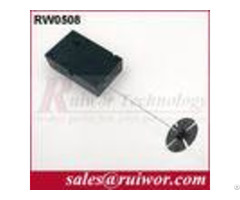 Department Store Retractable Security Tether With Sticky Flexible Abs Plate