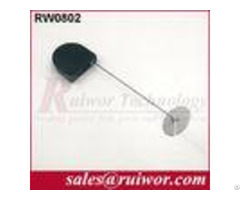 Balck White Bazaar Display Security Tether With Adhesive Abs Plate 2 8x2 8x0 8cm Box