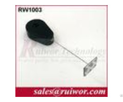 Anti Theft Recoiler With Sticky Metal Plate Retractable Security Cable