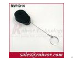Abs Plastic Anti Theft Retractable Pull Box Recoiler Drop Shaped With Key Ring