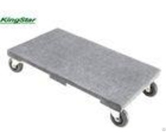 Carpeted Plywood Heavy Duty Furniture Dolly With Hard Pvc Swivel Caster 1000 Lb Capacity
