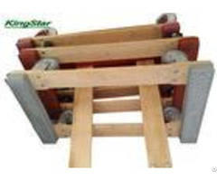 """Rubber Caps Heavy Duty Furniture Dolly Open Frame Construction 4"""" Tpr Wheels"""