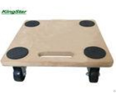 Furniture 4 Wheel Flat Dolly Wooden Transport Roller With Hdf Board 150kg Capacity