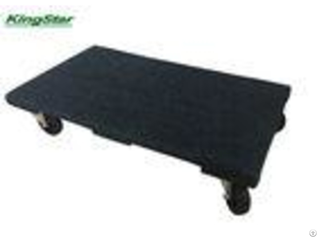 Commercial Grade Wooden Furniture Dolly Cart Carpeted With Big 100mm Pvc Wheels