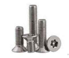 Security Flat Head Torx Machine Screws With Pin Theft Resistance M2 M12 Size