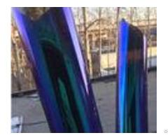 Blue Chameleon Tint Car Window Film High Visibility Less Sun Exposure