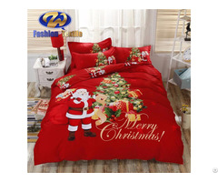 Low Price Lace Printed Christmas Digital Print Bedding Sheet Set Nantong