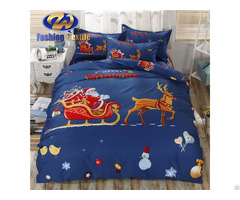 Attractive American Size Bed Sheet 3d Cotton Christmas Digital Print Bedding Sets
