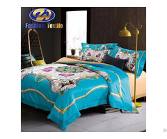 Beautiful Design Wedding Bed Sheet Digital Print Bedding Set