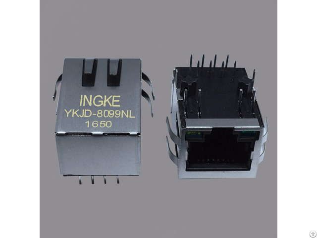 Ingke Ykjd 8099nl 100% Cross Hfj11 2450e L12rl Through Hole Rj45 Jacks With Magnetics