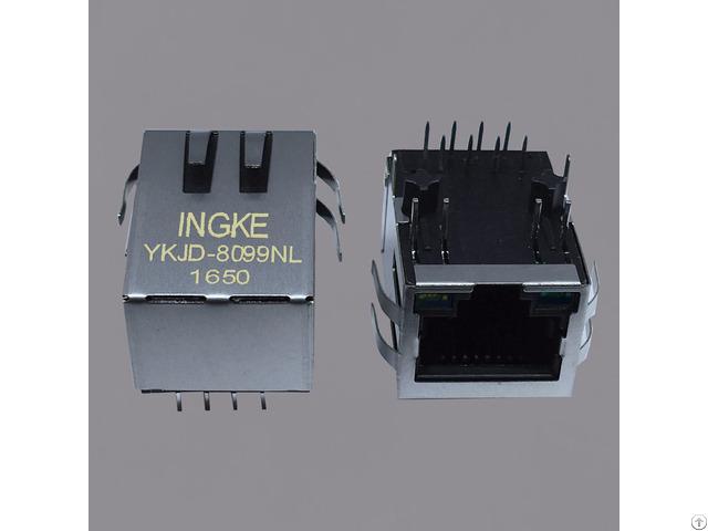 Ingke Ykjd 8099nl 100% Cross Hfj11 2450e L12rl Through Hole Rj45 Jacks With Magnetics