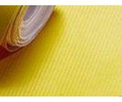 Yellow Air Channel Carbon Fiber Vinyl Rollshigh Flexible Polymeric Material