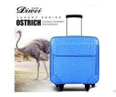 Custom Ostrich Skin Luggage