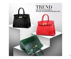 Real Crocodile Skin Ladies Handbag